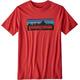 Patagonia Boys P-6 Logo Organic T-Shirt Fire